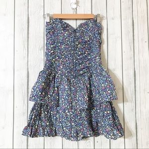 Abercrombie & Fitch Strapless Dress Size: Medium